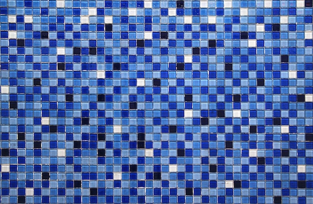 Fundo azul pequeno colorido da telha