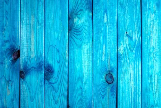 Fundo azul pranchas de madeira