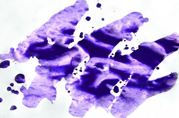 Fundo azul violeta rosa aquarela colorido para papel de parede. ilustração de cor brilhante aquarelle