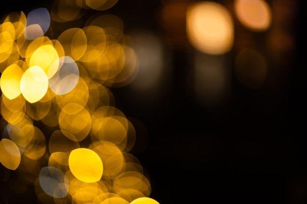 Fundo bokeh abstrato dourado