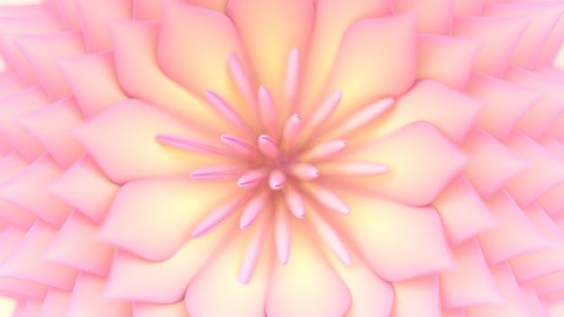 Fundo bonito com flores renderização de ilustração 3d