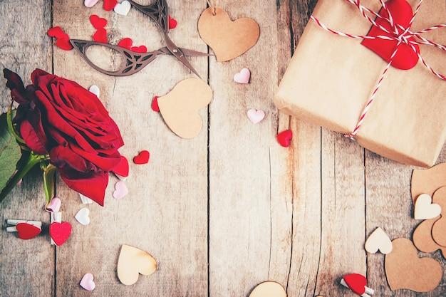 Fundo bonito sobre o tema do amor do feriado e um clima agradável.