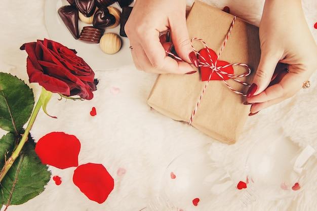 Fundo bonito sobre o tema do amor
