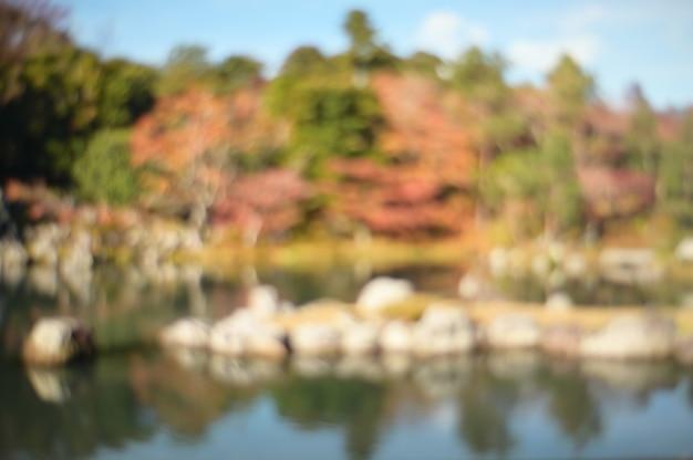 Fundo borrado sumário do estilo do jardim de japão.