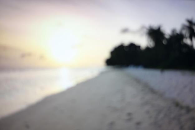 Fundo borrado sumário do verão do oceano do seascape.