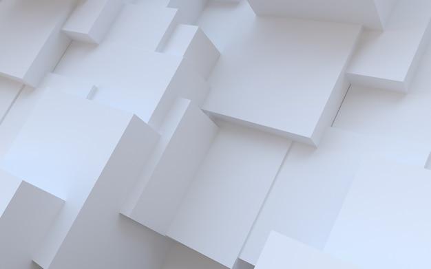 Fundo branco abstrato com cubos de gesso aleatórios