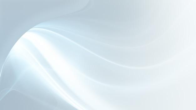 Fundo branco abstrato com linhas suaves onduladas