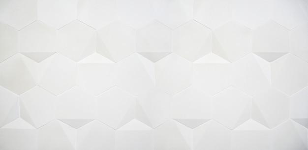 Fundo branco amplo hexágono