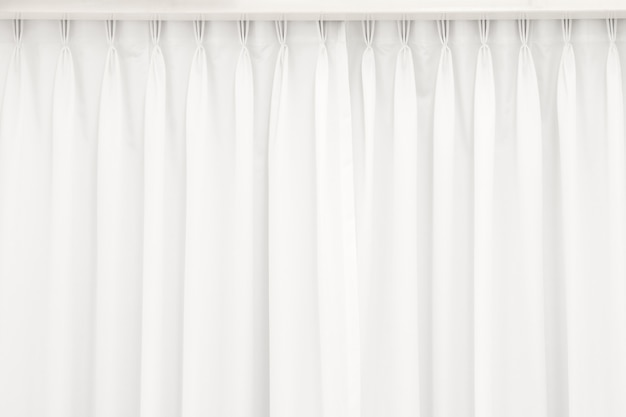 Fundo branco cortina.