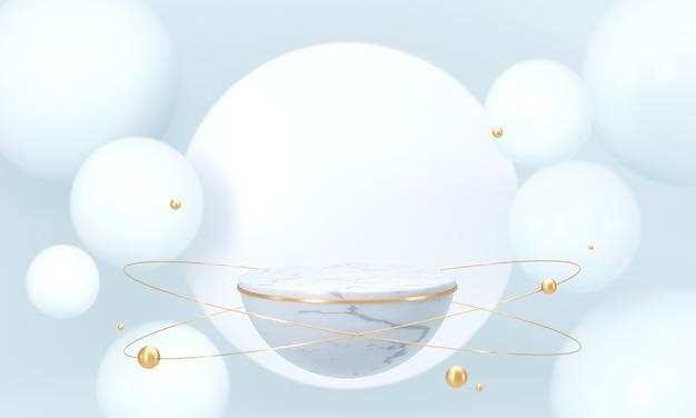 Fundo branco da fase do produto do modelo, pódio vazio