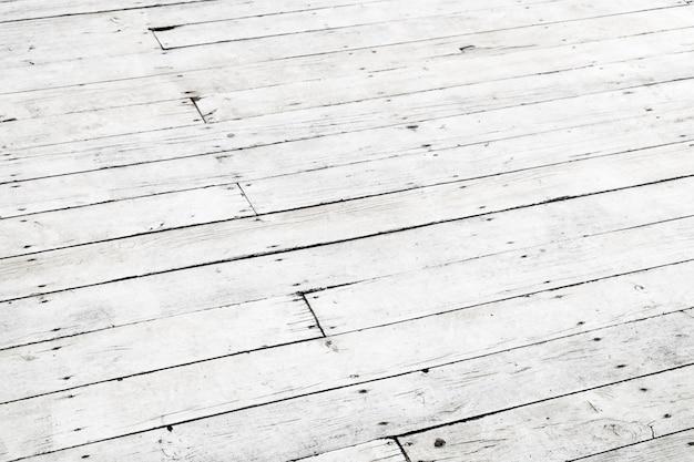 Fundo branco de madeira. textura de piso antigo. visão de perspectiva