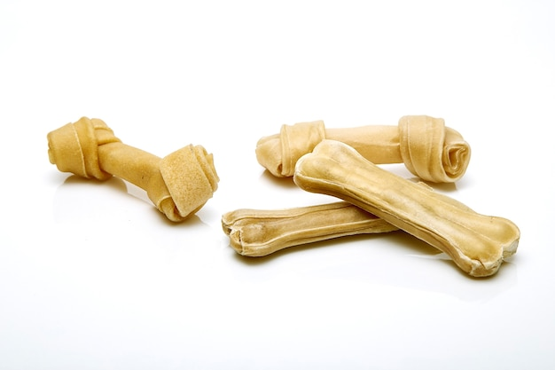 Fundo branco de osso de cachorro