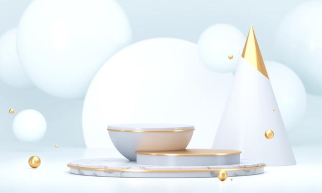 Fundo branco do estágio do produto do modelo