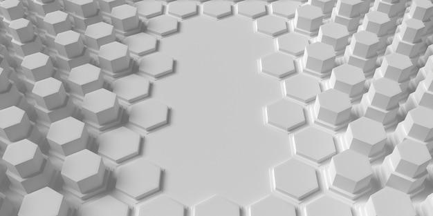 Fundo branco geométrico com formas de favo de mel