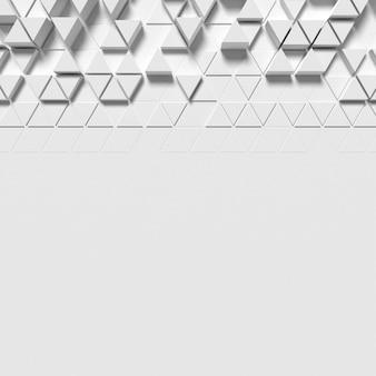 Fundo branco geométrico com formas poligonais