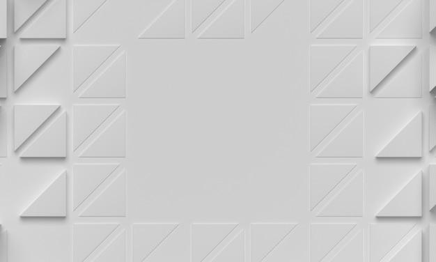 Fundo branco geométrico com formas triangulares