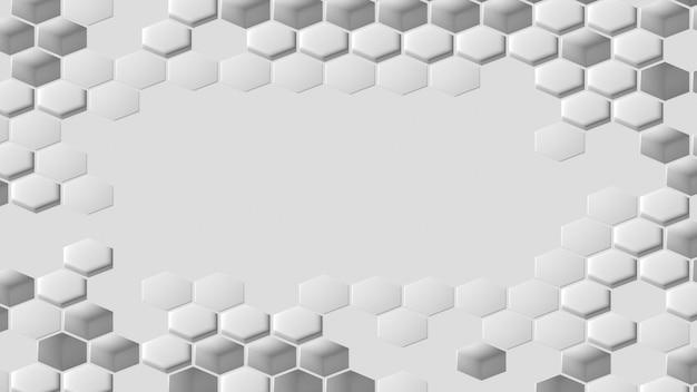 Fundo branco geométrico em forma de favo de mel