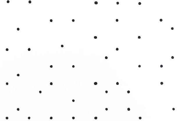 Fundo branco mínimo com padrão de bolinhas pretas