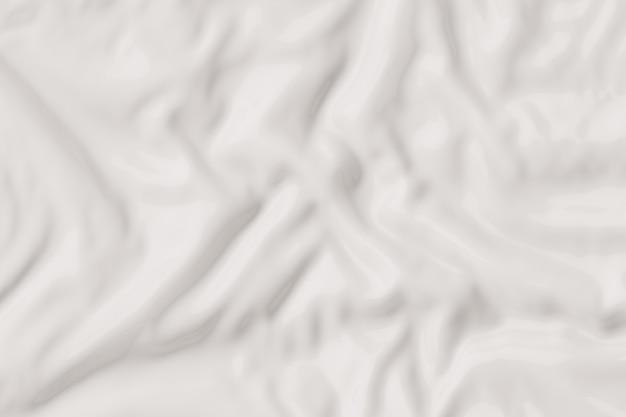 Fundo branco ondulado com textura de tecido renderização em 3d