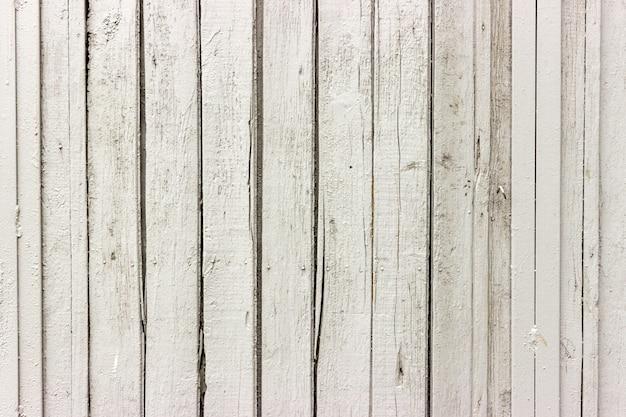 Fundo branco vintage de parede antiga de madeira natural