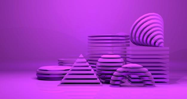 Fundo brilhante abstrato geométrico da bandeira. renderização em 3d.