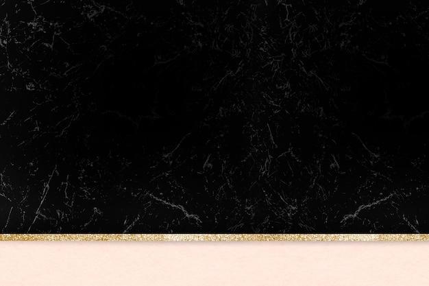 Fundo brilhante de mármore estético preto dourado