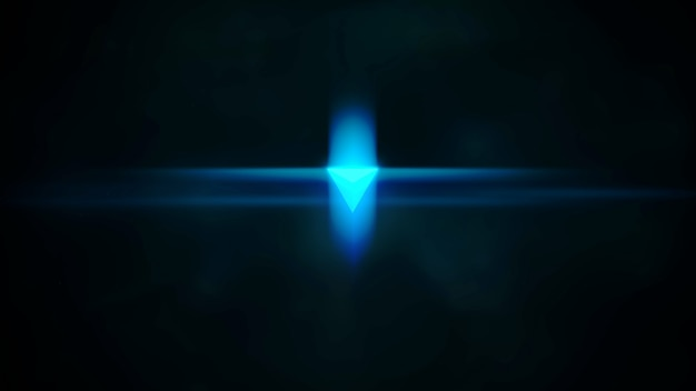 Fundo cinematográfico com forma de néon na galáxia e efeito de luz