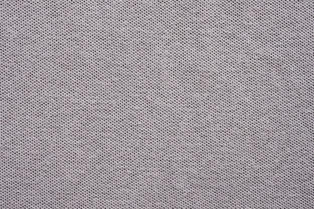 Fundo cinza de textura de tecido de camisa de algodão