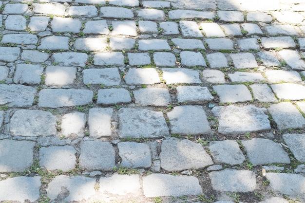Fundo cinza do pavimento antigo