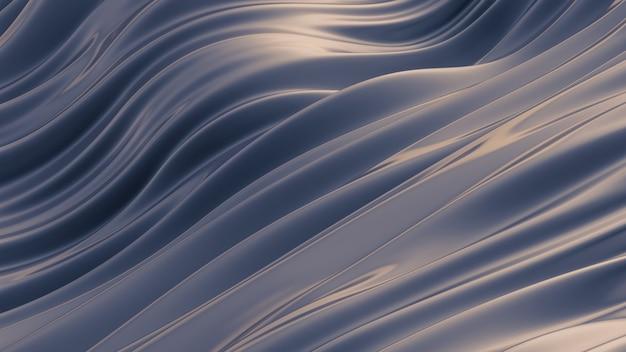 Fundo cinzento roxo bonito com tecido de cortinas. renderização em 3d.
