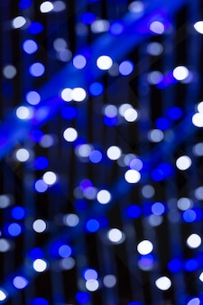 Fundo circular bokeh de luzes de natal
