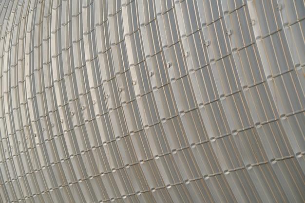 Fundo circular de metal estruturado