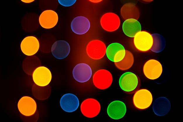 Fundo colorido abstrato com luzes desfocadas