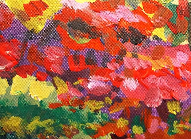 Fundo colorido abstrato com pinceladas de textura pintada.
