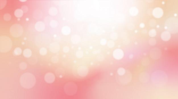 Fundo colorido abstrato da luz do bokeh do rosa pastel.
