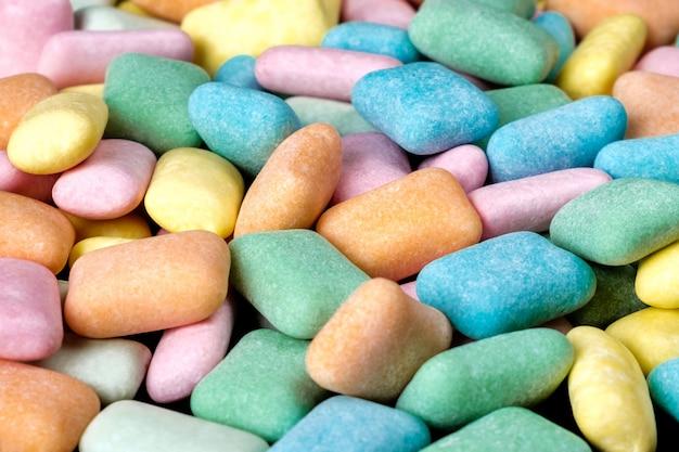 Fundo colorido abstrato da pastilha elástica