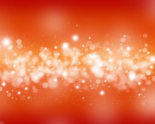 Fundo colorido com estrelas e efeito de luzes bokeh