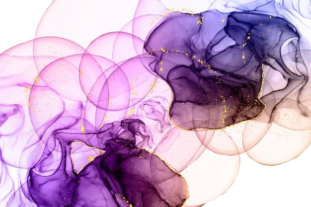 Fundo colorido com tinta alcoólica