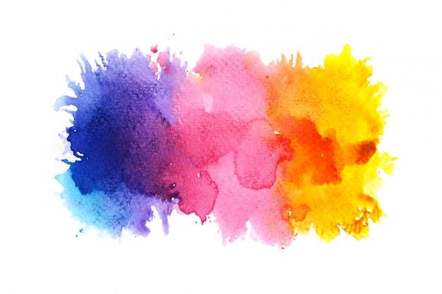 Fundo colorido da aguarela.