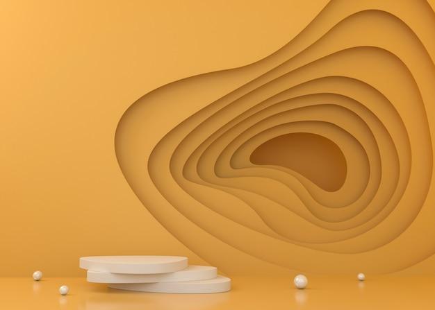 Fundo colorido da exposição do túnel para a apresentação do produto, ilustração da rendição 3d.