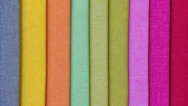 Fundo colorido da tela, uma pilha de tela colorida.