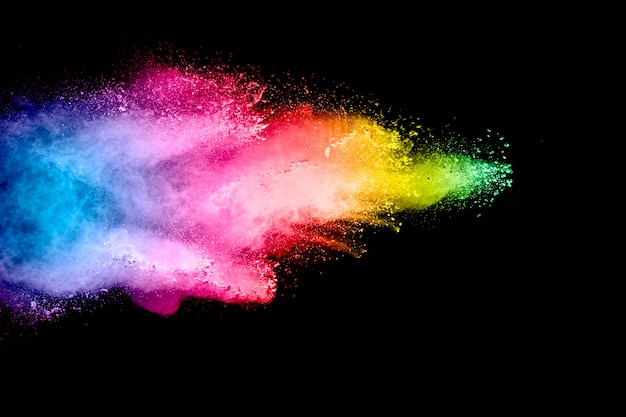 Fundo colorido de explosão de pó pastel