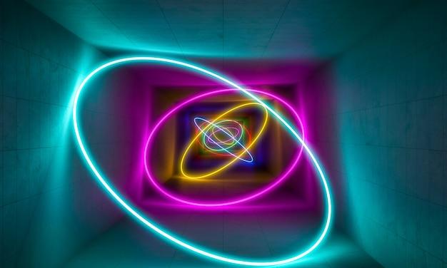 Fundo colorido de luz de néon