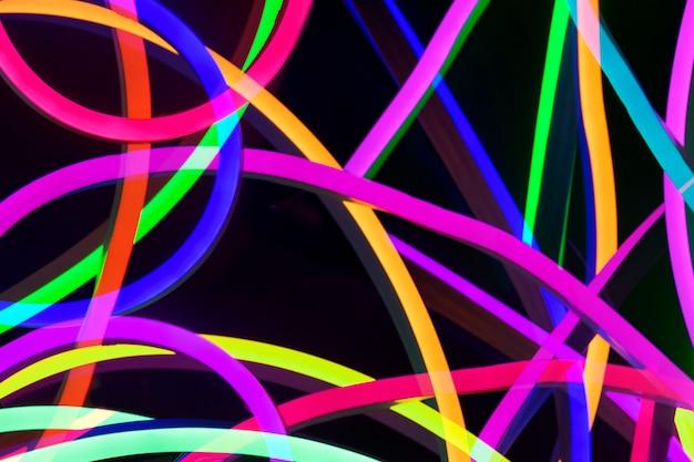 Fundo colorido de luz uv