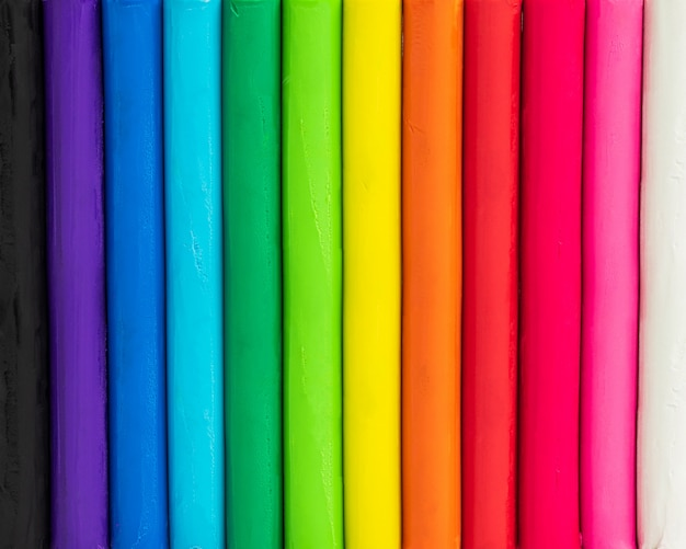 Fundo colorido de plasticina. multicolor da textura da argila de modelagem.