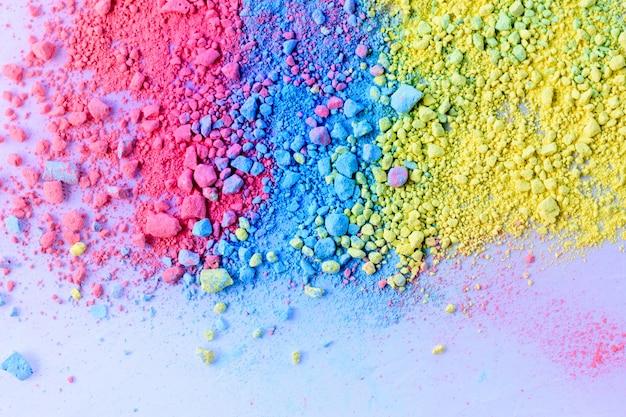 Fundo colorido de pó de giz