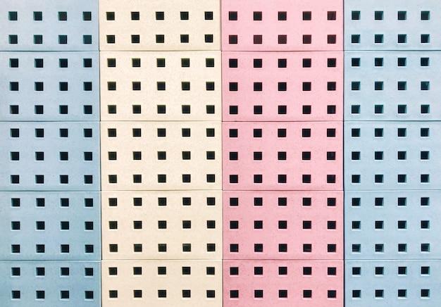 Fundo colorido do bloco quadrado.