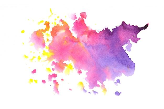 Fundo colorido do curso da pintura da mancha da aguarela