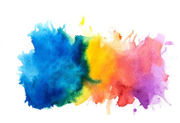 Fundo colorido em aquarela.