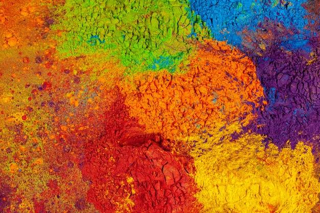 Fundo colorido feito de corantes coloridos indianos